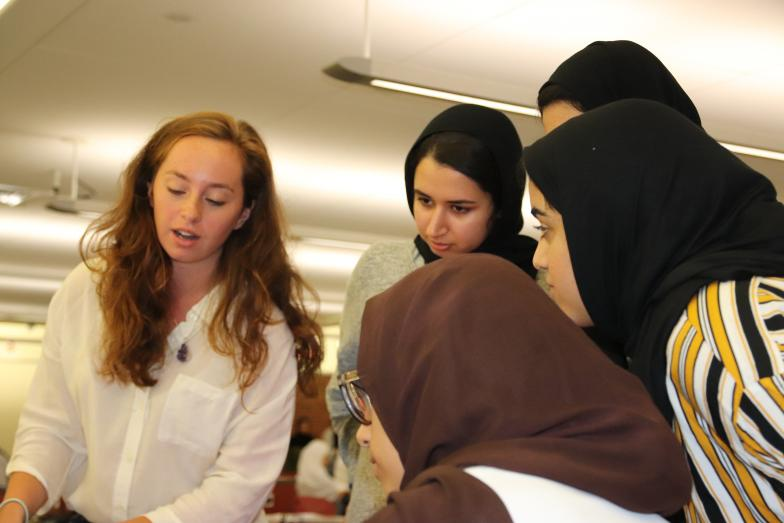 Photo of UAE students in makerspace class