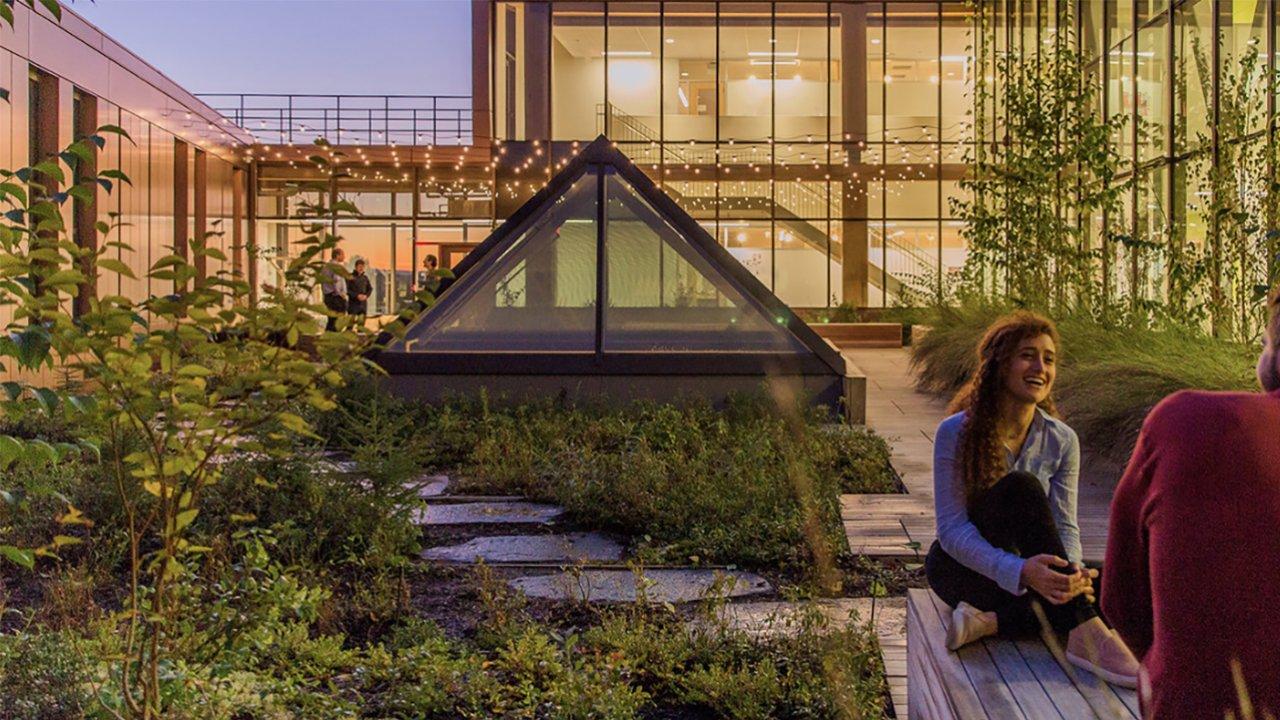 UMass Design Building Rooftop Garden - Photo Credit Stimson Studio