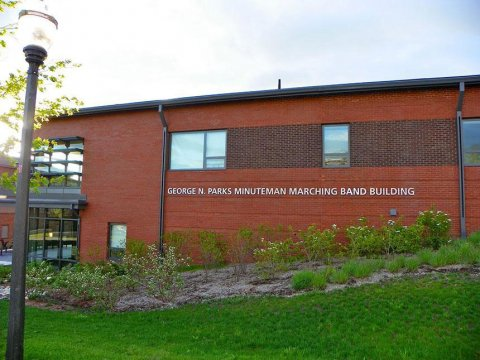 Marching Band Building at the University of Massachusetts Amherst