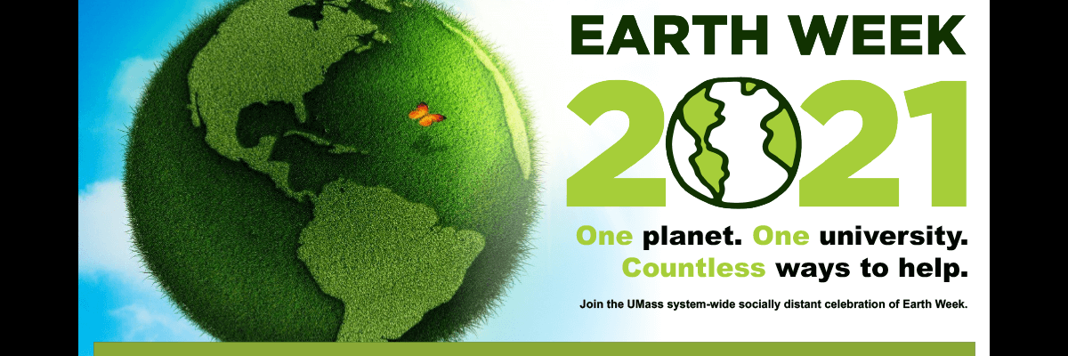 UMass Earth Week 2021 homepage banner image
