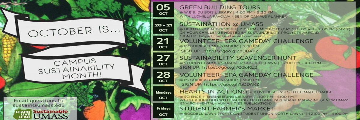 Campus Sustainability Month 2017