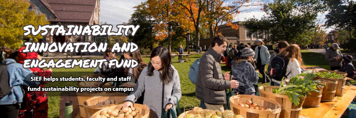 Sustainability Innovation and Engagement Fund (SIEF) helps students faculty and staff fund sustainability projects on campus