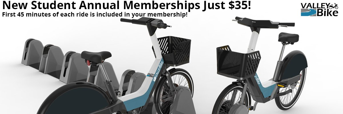 New Student Annual memberships Just $35! First 45 minutes of each ride included in membership.