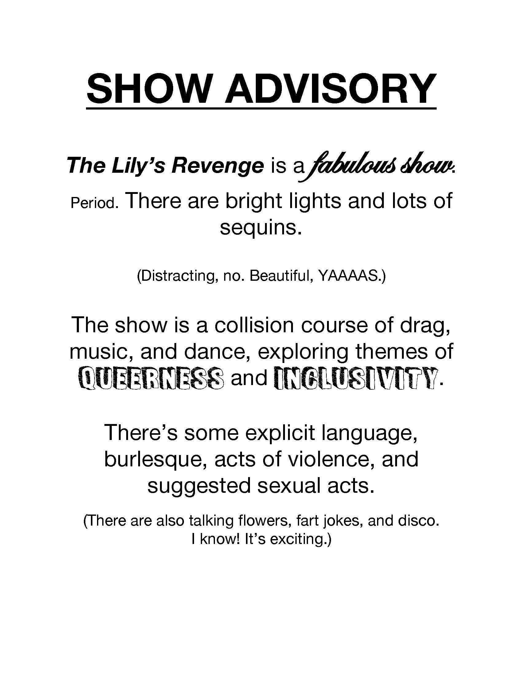 The Lilys Revenge Theater Umass Amherst