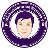 Purple Haired Librarian Logo