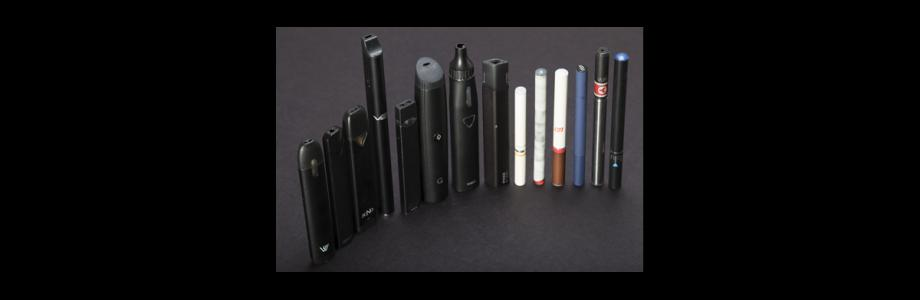 Photo illustration of a variety of e-cigarettes