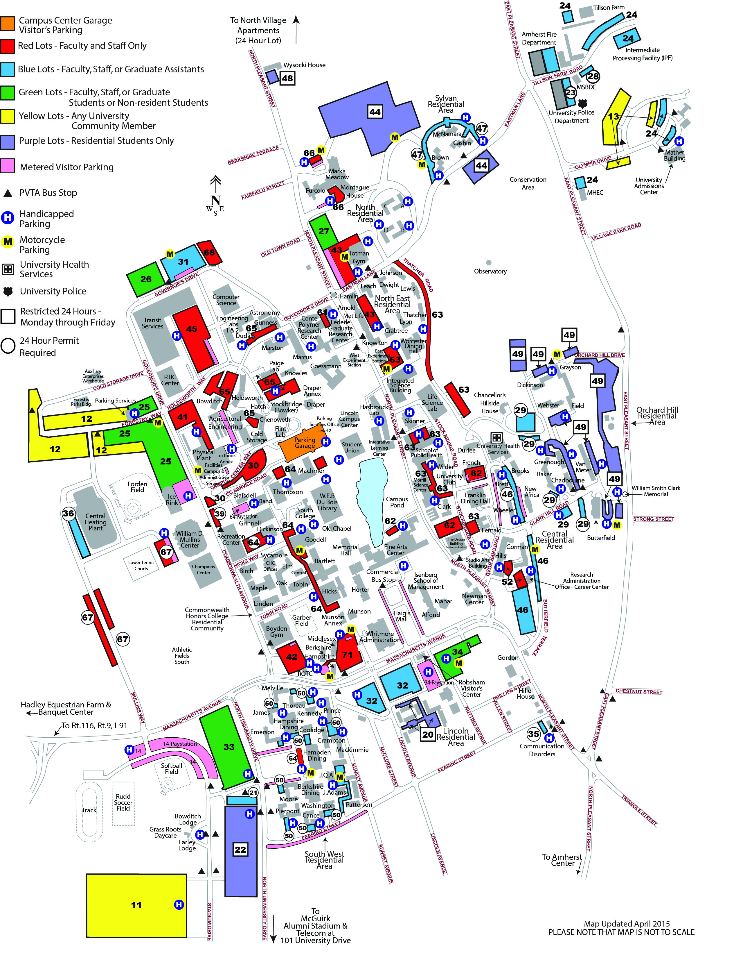 Umass Parking Map