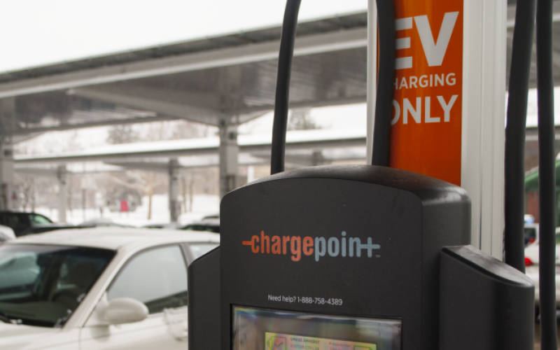 ChargePoint charging station at UMass