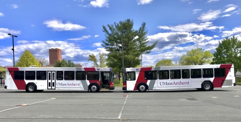 Two City Style Buses