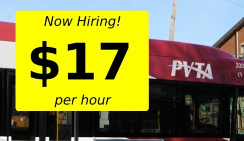 Now Hiring! $17 per hour.