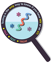 STI and HIV testing logo