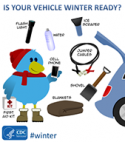 Winter-ready vehicle graphic