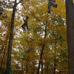 Youth Academy ropes course activity