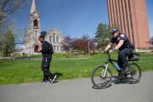 Bike unit officer on patrol