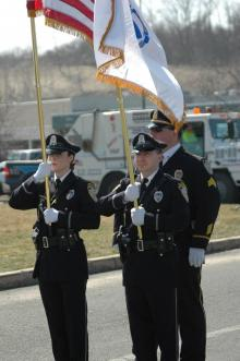 Officers at parade