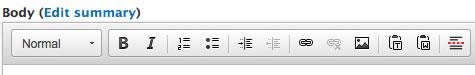 WYSIWYG Toolbar