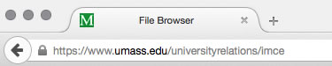 File Browser URL