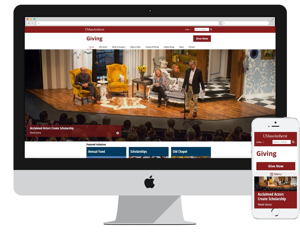 UMass Amherst Giving Website