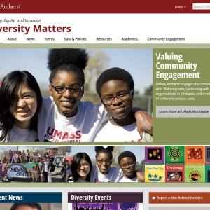 UMass Amherst Diversity Matters Website Screen Capture