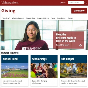 UMass Amherst Giving Website