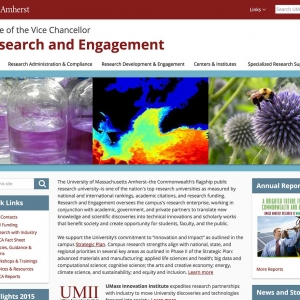 Research and Engagement Website Screen Capture