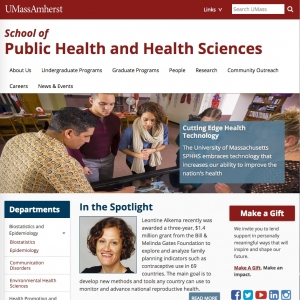 UMass Amherst School of Public Health and Health Sciences