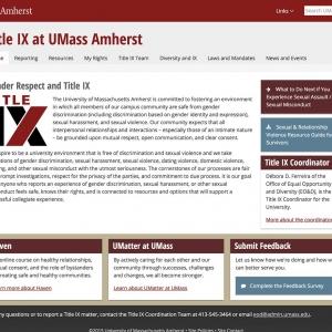 Title IX Website Screen Capture