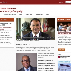 UMass Amherst Community Campaign Website Screen Capture