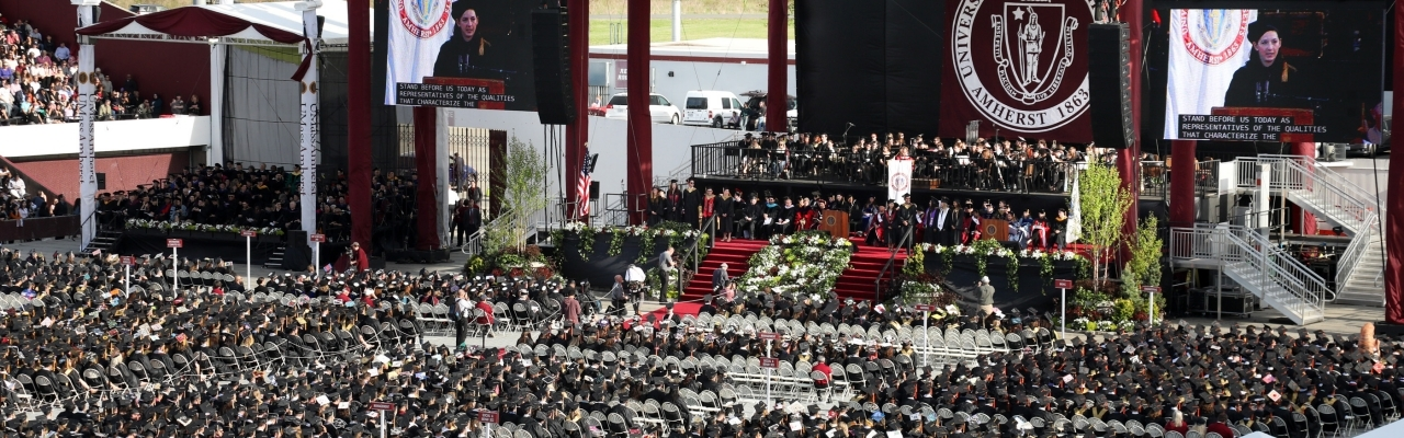 UMass Amherst commencement event