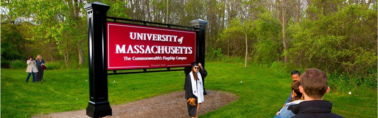 University of Massachusetts gateway sign