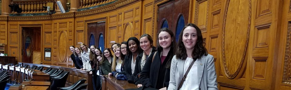 Students at MA State House
