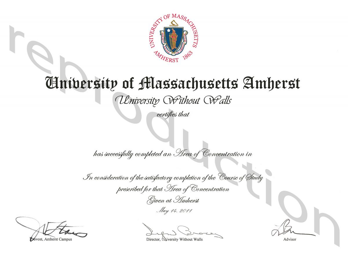 Umass Amherst Uww Area Of Concentration Certificate Jpg Administracion En  Una Pagina Analysis Essay. Social Work Essay Effective Academic Writing