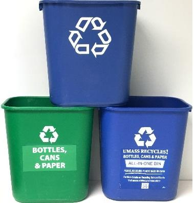 Desk side recycling bins
