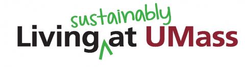 Living sustainably at UMass logo