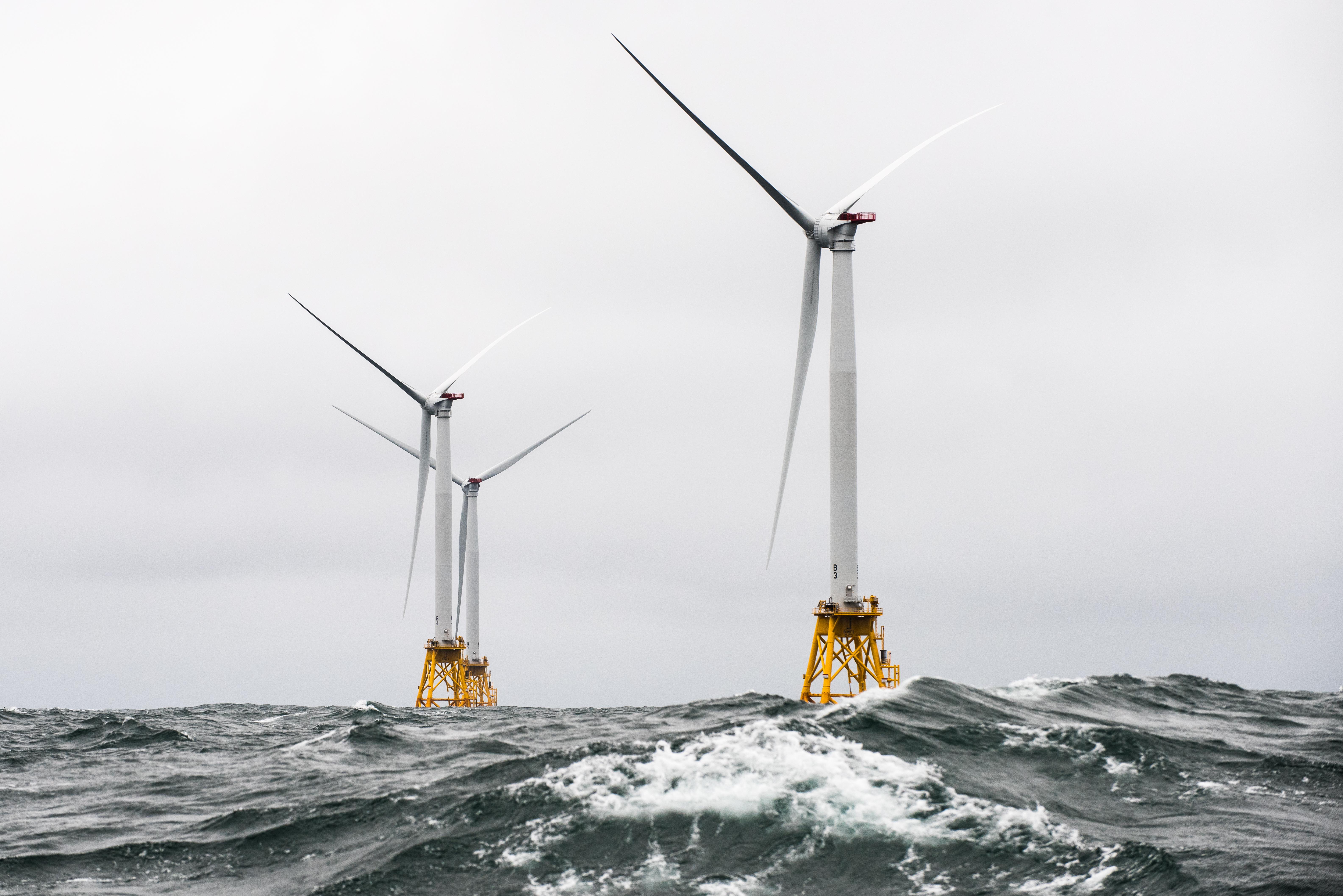 Wind turbines at Block Island, RI