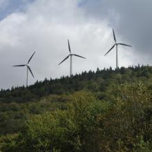 Wind turbines at Searsburg, VT