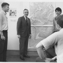 Bill Heronemus with students