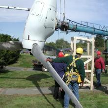 Taking down the WF-1 turbine