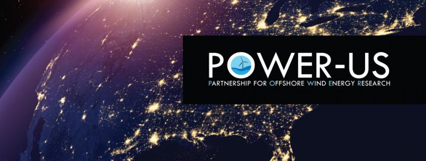 POWER-US logo with background of lighted United States