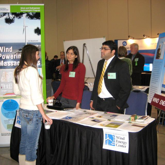 Students working at a table at Clean Energy Connections