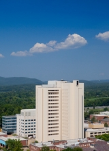Lederle Building aerial view